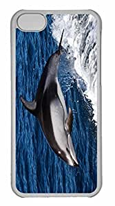 iPhone 5C Case, Personalized Custom Dolphin Jumping for iPhone 5C PC Clear Case