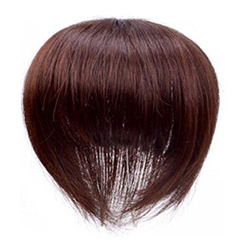 人毛100% 部分ウィッグ 部分かつら 白髪かくし 男女兼用 前髪ウィッグ 増毛 部分かつら 10cm*10cm つけ毛 ウィッグ 20cm 栗色ぱっつん