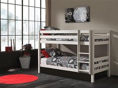 Swithome Ruben H140cm Bunk Bed 90 X 200 Cm White Amazon Co Uk