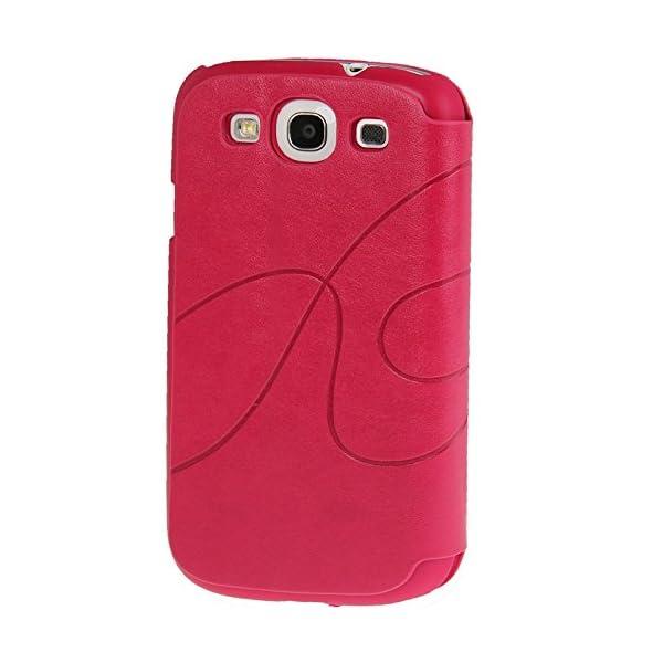 Fundas y estuches para teléfonos móviles, Dibujo de estampado del cuero del tirón con ranura para tarjeta de crédito / soporte / ventosa para el Samsung Galaxy S III / i9300 4