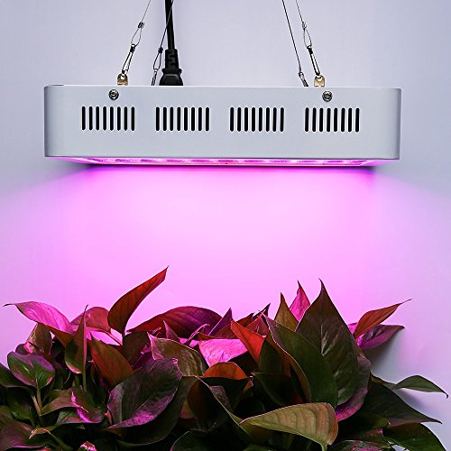 Latest 1000W LED Grow Light Full Spectrum for Greenhouse Hydroponic Indoor Plants Seeding/Growing/Flowering with Double Chips Growing Bulbs (White) Hydroponic System 8