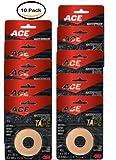 PACK OF 10 - ACE Waterproof Sports Tape, Beige, 1 roll