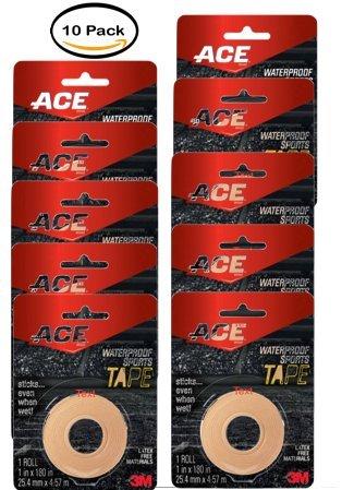 PACK OF 10 - ACE Waterproof Sports Tape, Beige, 1 roll by ACE
