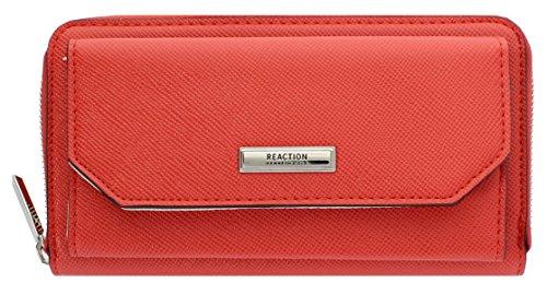 Kenneth Cole Reaction Nicole Zip-Around Urban Organizer Wallet (RED) (Wallet For Women Kenneth Cole)