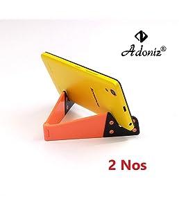 Adoniz Universal Foldable V Shape Tablet PC Desk Mobile Mount Stand Holder Bracket for Smart Phones (Random Colour) - Pack of 2