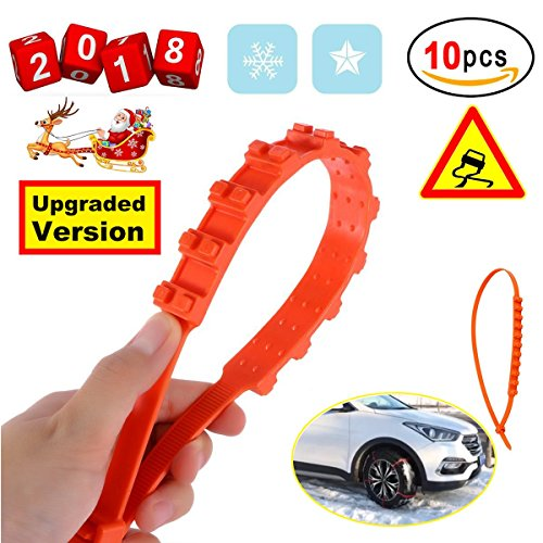 Anti-Skid Chains Snow Chains New Universal Emergency Anti-Slip Tire Belting Straps Cable Traction Wire for Car/SUV Winter Tyres Wheels Aid Autocross Outdoor in Snow Ice Mud Situation(10Pcs) (Sipper Bike)