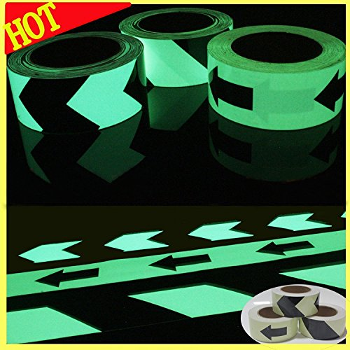 Luminous Glow In The Dark Tape Safety Self-adhesive Stage Home Design Decals (5cm x 5m, Green Arrow) by bearfire (Image #2)