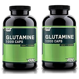Optimum Nutrition 480 Glutamine Capsules Pure L Glutamine Recovery Caps, 1000MG