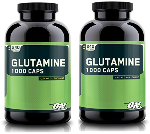 Optimum Nutrition 480 Glutamine Capsules Pure L Glutamine Recovery Caps, 1000MG
