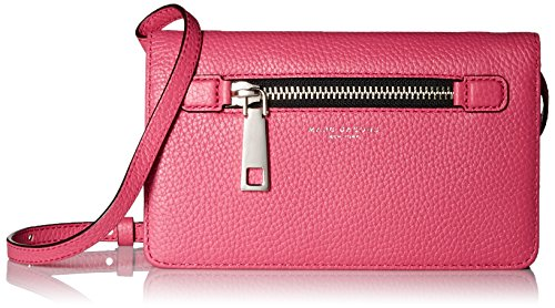 Marc Jacobs Gotham City Slgs Leather Strap Wallet, Begonia, One (Marc Jacobs Red Leather)