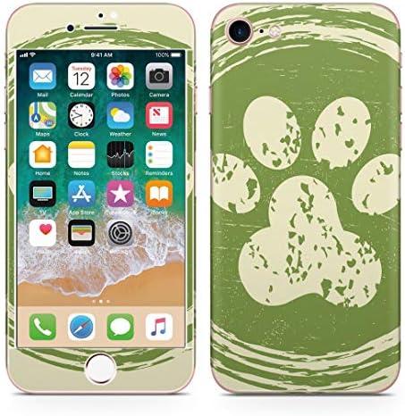 igsticker iPhone SE 2020 iPhone8 iPhone7 専用 スキンシール 全面スキンシール フル 背面 側面 正面 液晶 ステッカー 保護シール 006094 アニマル 肉球 動物