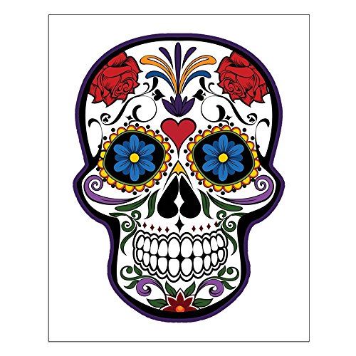 Small Poster Floral Sugar Skull Day of the Dead