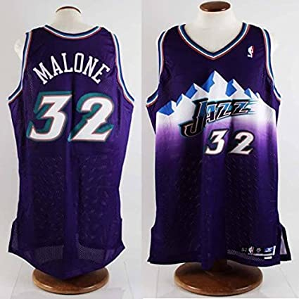 7bc0c1295 Image Unavailable. Image not available for. Color  2002-03 Karl Malone Game- Worn Utah Jazz Jersey ...