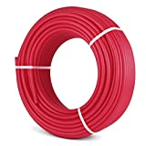Mophorn Pex Tubing Oxygen Barrier RadiantFloor HeatPex 1/2 Inch 300ft PexPipe Potable Water Tubing Avirulent Insipidity for Residential and Commercial Water Plumbing Application Red (300ft)