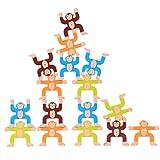 JIALEEY Monkey Balancing Blocks Toys, Wooden Wonders Building Balance Games Educational Stacking Block Toys for Kids Children Boy Girl Adults