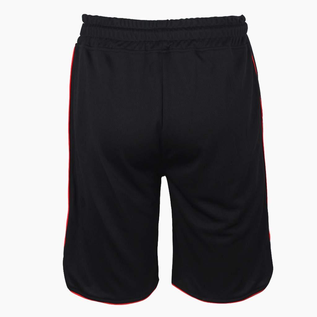 yoyorule Casual Pants Fashionable Mens Elastic Rope Stretch Mesh Pocket Casual Plain Sports Shorts