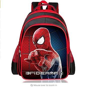 Back Pack Spiderman RED Boys School Bag Large Spiderman Bag