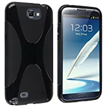 JKase Ultra-Slim Stylish Design TPU Soft Case Protective Cover for Samsung Galaxy Note II 2 GT-N7100 - Retail Packaging -Black