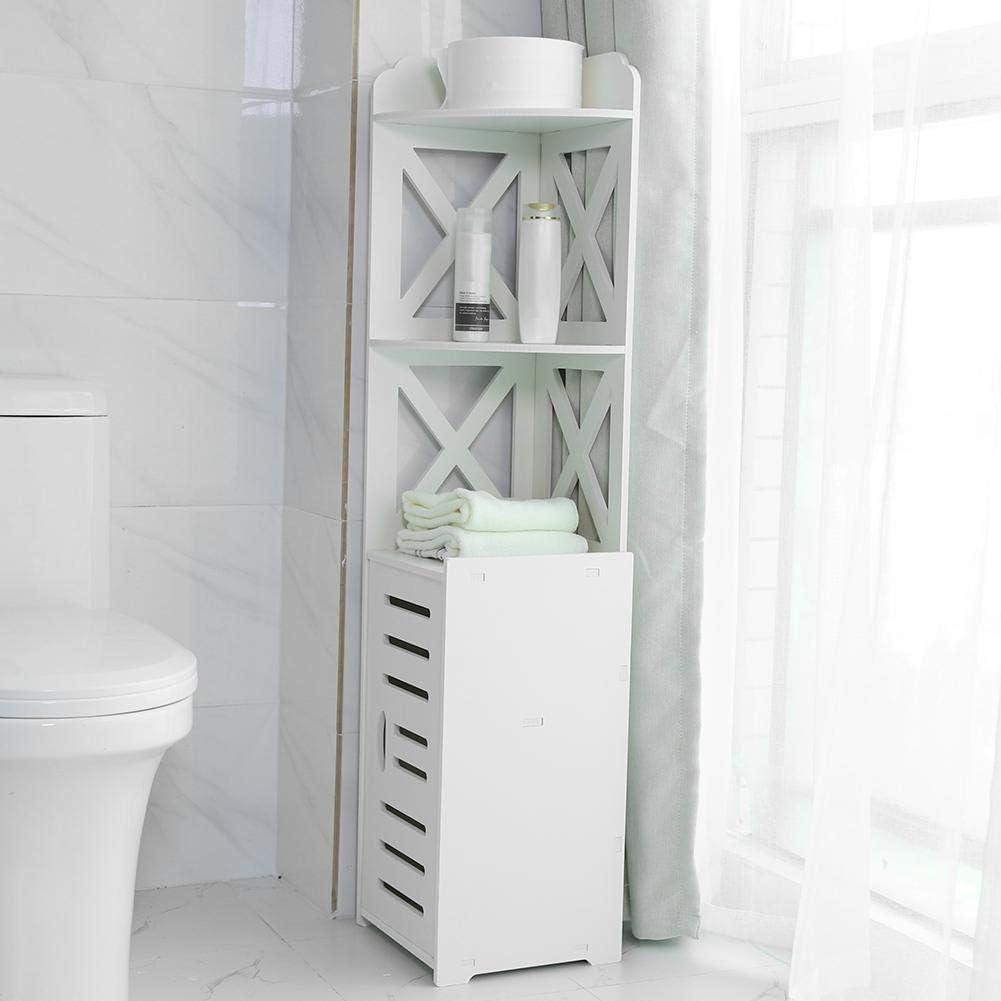 Greensen Badezimmer Schrank Freistehend Hochschrank Eckschrank
