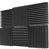 Mybecca 6 Pack Acoustic Foam Wedge 2' X 12' X 12' Studio Soundproofing Panels (6 Square Feet), Charcoal