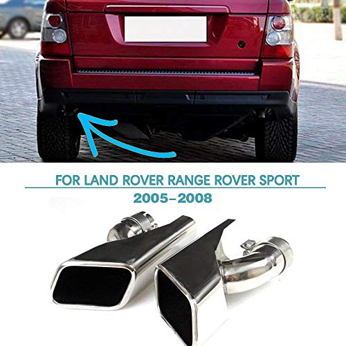 Rover Range Muffler (Jun-star Stainless Steel Diesel Exhaust Tip Muffler Pipe for Land Rover Range Rover Sport 2005-2008)