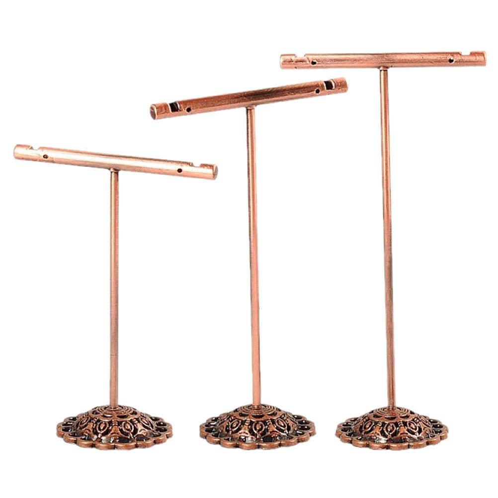 cuivre Set en fer forg/é T-forme boucles doreilles pr/ésentoir titulaire support /à bijoux organisateur de rack Cabilock 3pcs