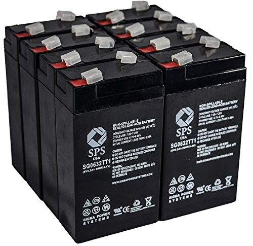 SPS Brand 12V 2.3 Ah Terminal T1 Replacement Battery R & D Batteries 5515 (8 Pack)