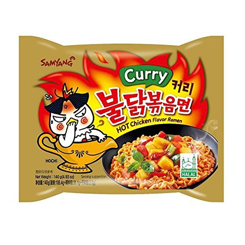 (Samyang Hot chicken Curry flavor ramen Halah 4.93 oz (140g) x5)