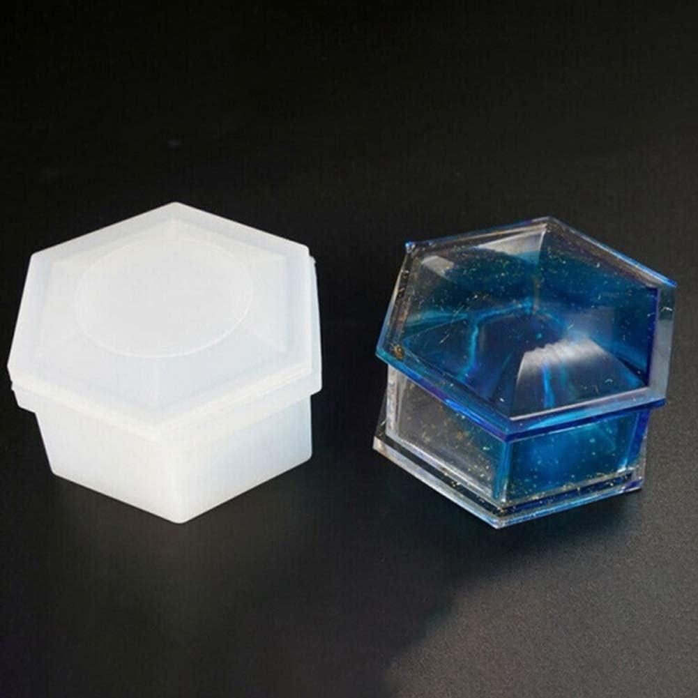 esagono per la creazione di Gioielli happyhouse009 Stampi in Silicone Resina epossidica per Fai da Te Vaso di Fiori in Gesso Cemento Fai da Te Multicolore