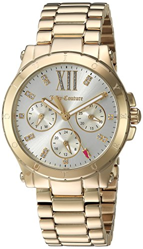 Juicy Couture Women's 'HOLLYWOOD' Quartz and Stainless-Steel Casual Watch, Color:Gold-Toned (Model: 1901589)