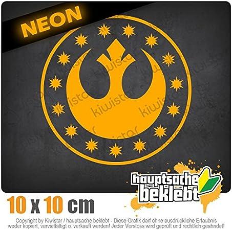 Neon Sticker Aufkleber Chrom Neue Republik 10 x 10 cm IN 15 FARBEN