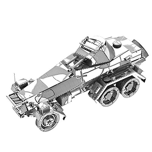 3 Wheeled Kit Car - MOTU 2018 3D Metal Puzzle Sd.Kfz.231 6-Wheeled Heavy Armored Car Assemble Model Kits I22217 DIY 3D Laser Cut Jigsaw Toy