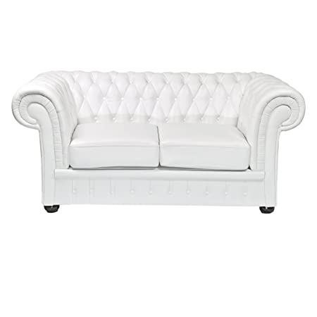 Amazon De Classic Chesterfield 2 Sitzer Weiss Sofa Outlet Wallisellen