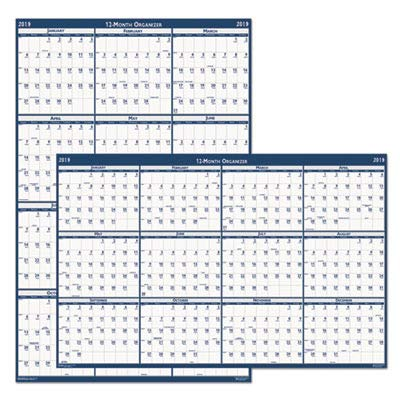 House of Doolittle Laminated Write-On/Wipe-Off Wall Planner, January 2014 to December 2014, 24 x 37 Inches, Vertical or Horizontal, Recycled - Planner Doolittle Horizontal