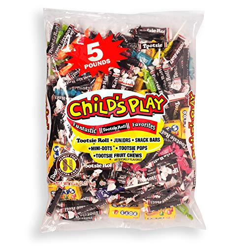 Tootsie Roll Child's Play Favorites, Funtastic Candy Variety Mix Bag, Peanut Free, Gluten Free, 5 Lb