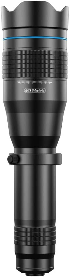 SEGEMS Super Powerful New Universal 60x Telescope Lens with extendable Tripod The 60x Telephoto Lens is The Ultimate in Phone Lens Kit The 60x Telephoto Lens is a Cell Phone Lens Kit!