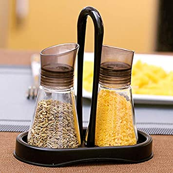 Amazon com: Jars Boxes - Glass Seasoning Jar Set Salt Spices
