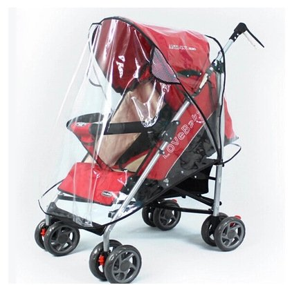 Sainese tech Universal Clear Waterproof Rain Cover Wind Shield Fit Most Strollers Pushchairs