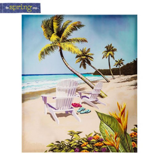 Tropical-Beach-Ocean-Chairs-Flip-Flops-Palm-Trees-Canvas-Wall-Decor