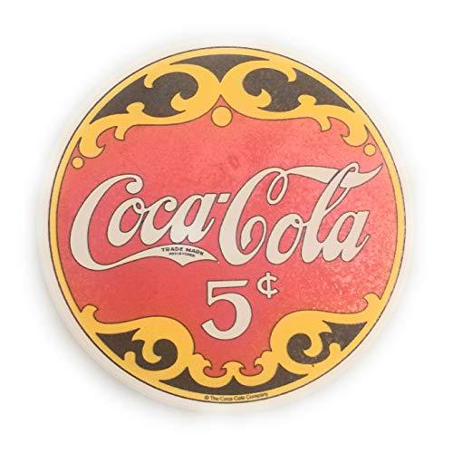 Coca-Cola Ceramic Coaster Set, Vintage 5 cents Design