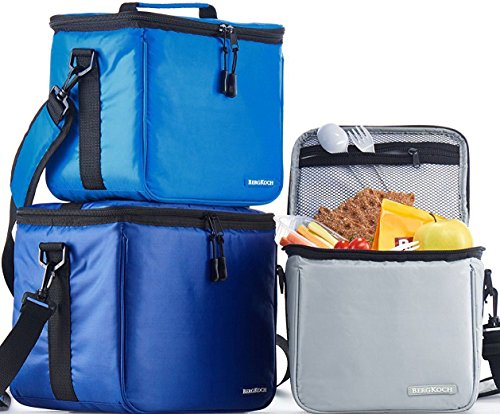 Set of 3 Soft Cooler Thermal Bags For Men Women Adult Boy Kids Reusable Insulated Bags For Lunch Food Travel Picnic Work Office Camp Beach Bento Meal Prep Water Bottle Small Medium & Large (Cooler Drink Soft)