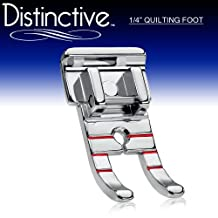 """Distinctive 1-4"""" (Quarter Inch) Quilting Sewing Machine Presser Foot - Fits All Low Shank Snap-On Singer*, Brother, Babylock, Euro-Pro, Janome, Kenmore, White, Juki, New Home, Simplicity, Elna and Mor"""