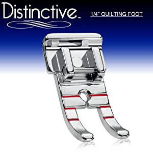 """Distinctive 1-4"""" (Quarter Inch) Quilting Sewing Machine Presser Foot - Fits All Low Shank Snap-On Singer*, Brother, Babylock, Euro-Pro, Janome, Kenmore, White, Juki, New Home, Simplicity, Elna and More!"""