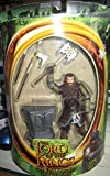 Gimli with Battle Axe Swinging Action - Lord of the Rings Fellowship of the Ring Action Figure - LOTR FOTR Toy by Toybiz