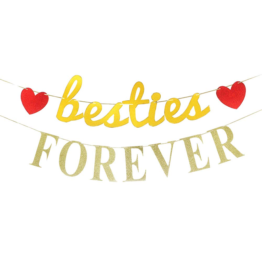 Besties Forever Banner Best Friends Sign Garlands Bachelorette Bridal Shower Anniversarygraduation Celebration Activities Party Decorations Amazon In Health Personal Care