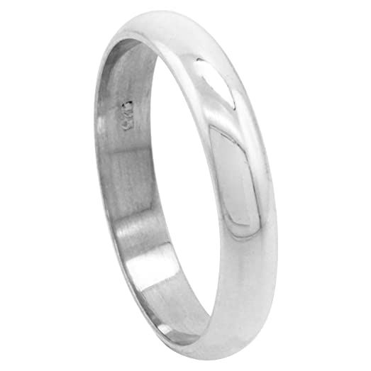 Sterling Silver 4 Mm High Dome Wedding Band Thumb Ring Size
