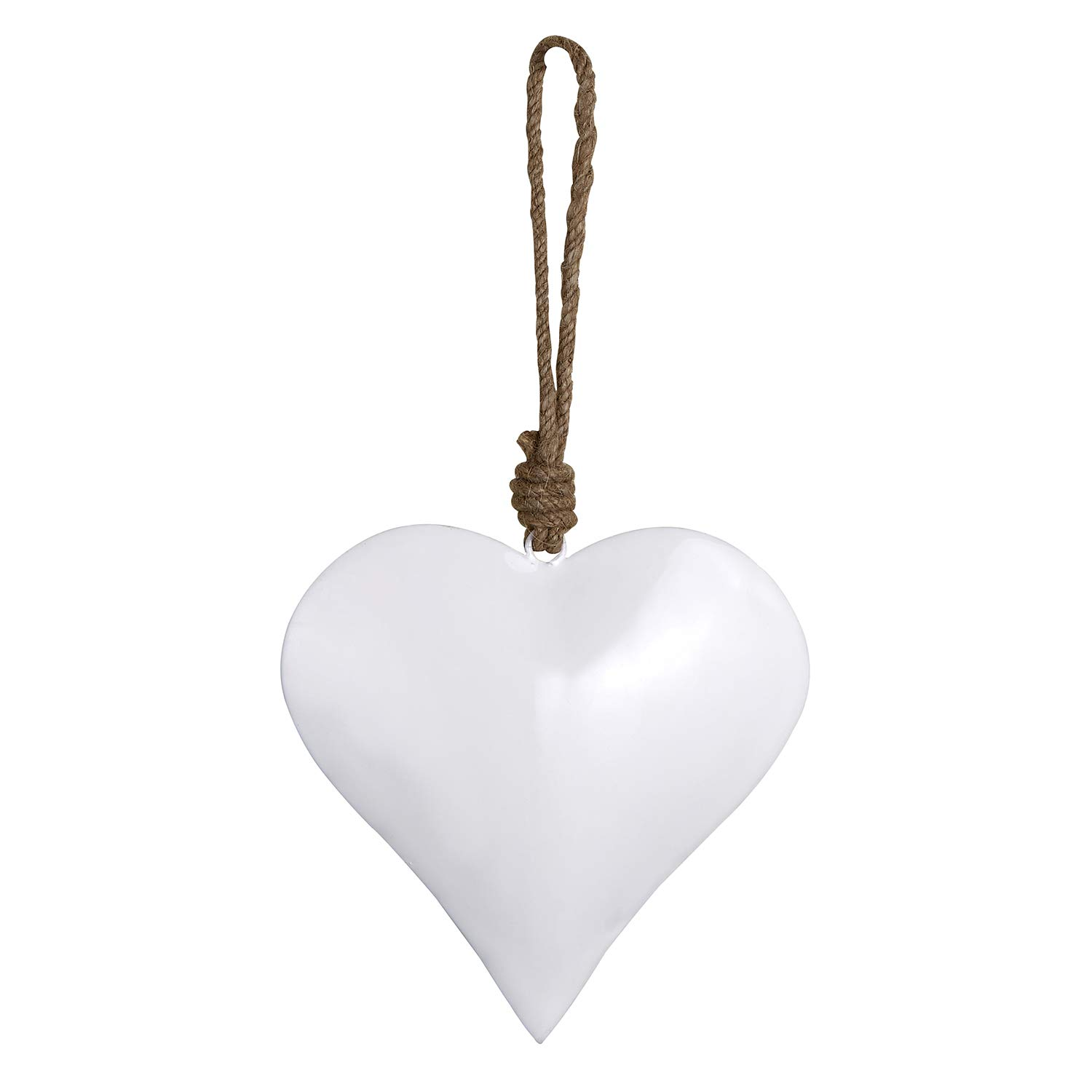 Stephan Baby Enamel Nursery Decor Collection, Hanging White Heart