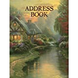 LANG - Address Book - ''A Quiet Evening'' - Art by Thomas Kinkade - 3-Ring - Refillable - 6 1/2'' x 8 1/2''