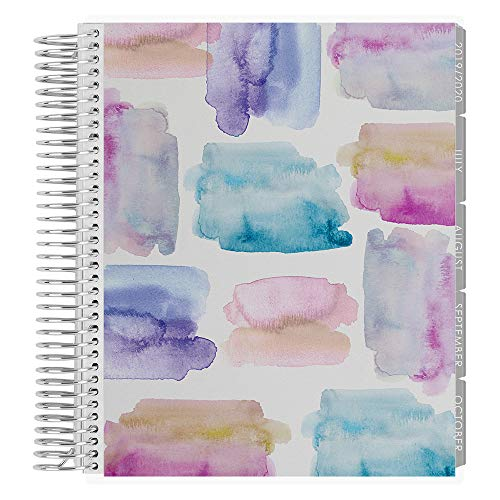 Erin Condren 18-Month July 2019 - Dec 2020 Coiled LifePlanner - Watercolor Crystals, Horizontal (Neutral Layout)