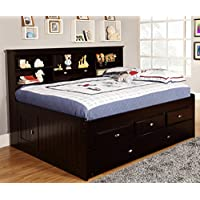 American Furniture Classics Daybed with 6 Drawers, Full, Espresso